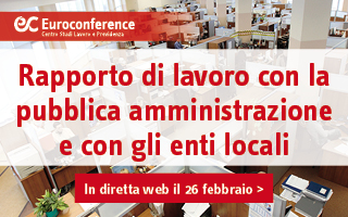 Rapporto di lavoro con la pubblica amministrazione e con gli enti locali