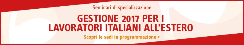 Gestione 2017 per i lavoratori italiani all'estero