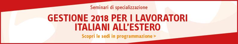 Gestione 2018 per i lavoratori italiani all'estero