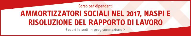 Ammortizzatori sociali nel 2017, NASPI e risoluzione del rapporto di lavoro