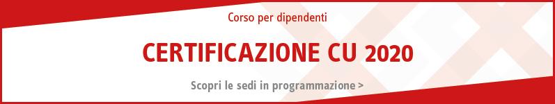 Certificazione CU 2020