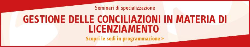 Gestione delle conciliazioni in materia di licenziamento