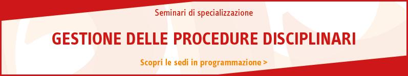Gestione delle procedure disciplinari
