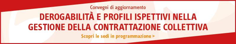 Derogabilità e profili ispettivi nella gestione della contrattazione collettiva