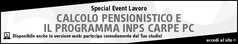 Calcolo Pensionistico e il programma Inps Carpe Pc