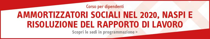 Ammortizzatori sociali nel 2020, NASPI e risoluzione del rapporto di lavoro