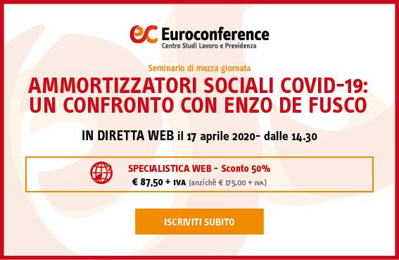 Ammortizzatori sociali Covid-19: un confronto con Enzo De Fusco