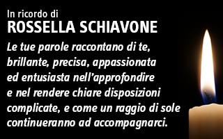In ricordo di Rossella Schiavone